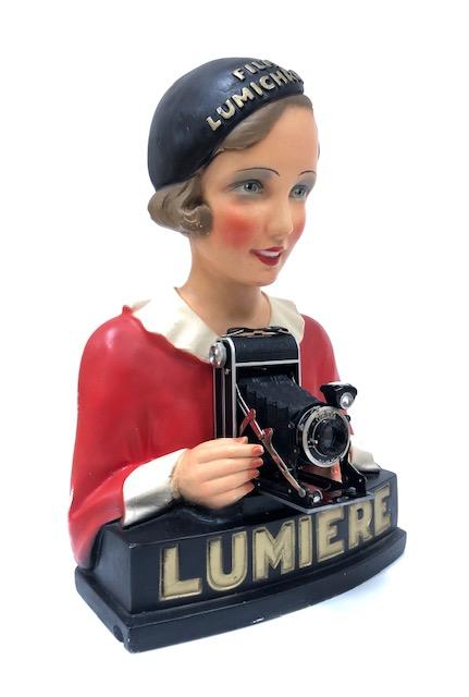Publicité Lumière En Plâtre Vers 1925