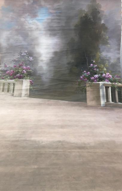 Décors Studio Photographe Balustrade Et Fleurs
