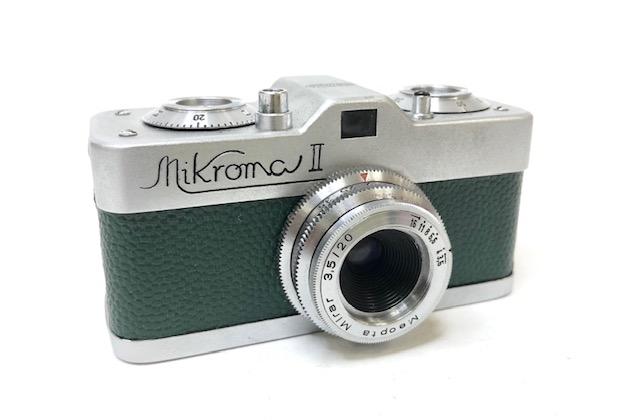Méopta Mikroma II Miniature Gainage Vert 1960