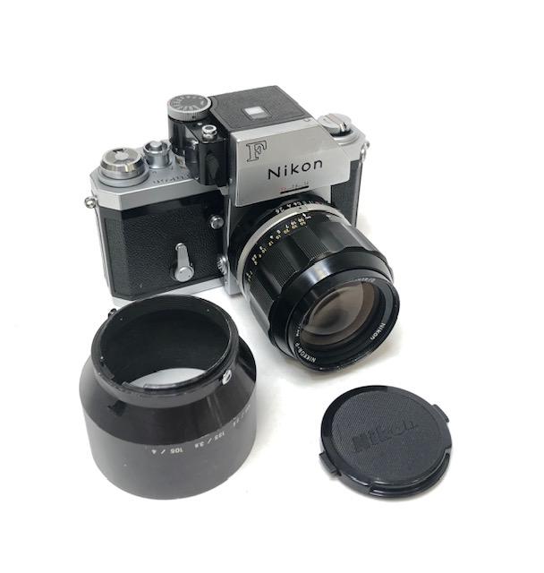 Nikon F Photomic FTN Objectif Nikkor P 2,5/105 Mm.
