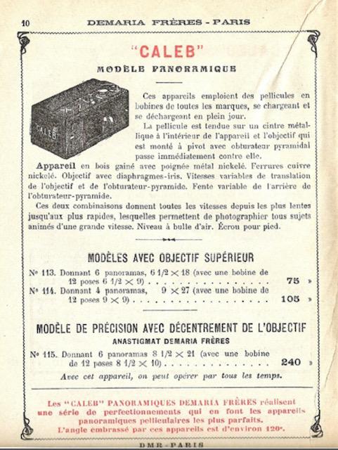 Caleb panoramique,Demaria frères Paris vers 1902