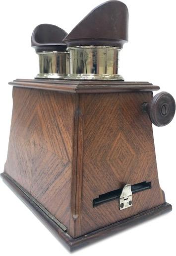 Mattey stéréoscope placage en Palissandre verni vers 1900 Paris