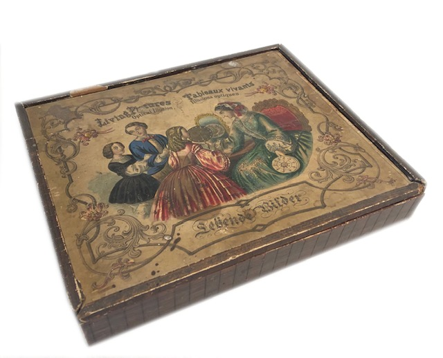"""Phénakistiscope En Boite """"Leben Bilder"""" Germany 1840"""