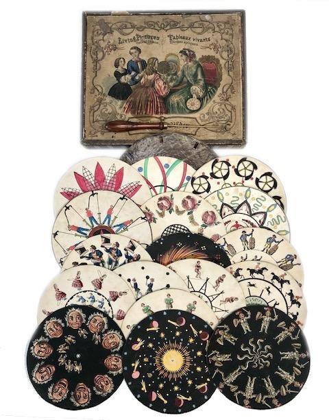 Phénakistiscope En Boite «Leben Bilder» Germany 1840
